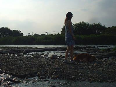 ボク、川に入ってみたいけど勇気がないの。