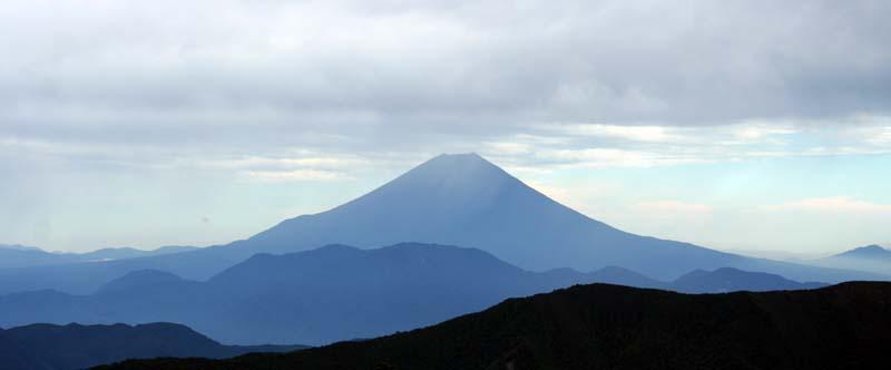 千枚小屋から見る富士山