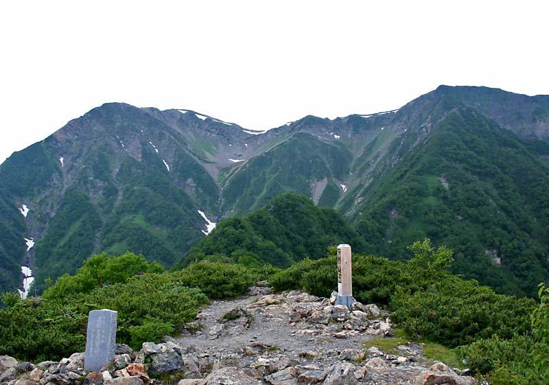 富士見平から見る赤石岳