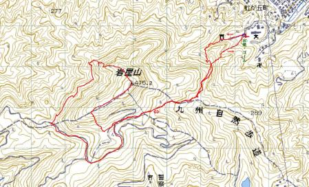 岩屋山GPSトラック