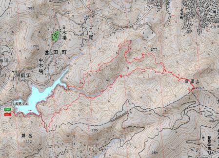 080228式見ダムから岩屋山LOG