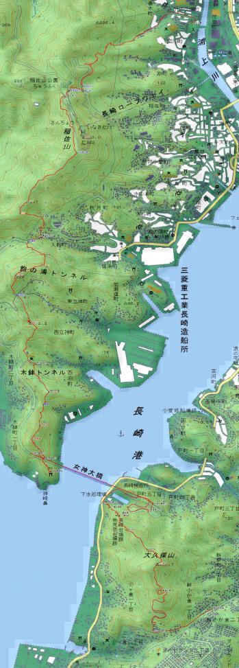 080531稲佐山から大久保山