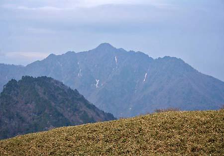 桑瀬峠から見た西黒森