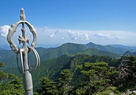 八経ヶ岳山頂で