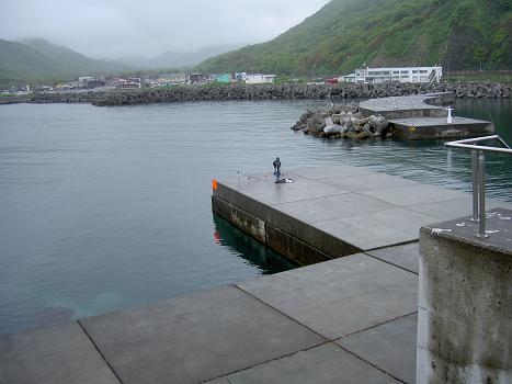 雨の投げ釣り
