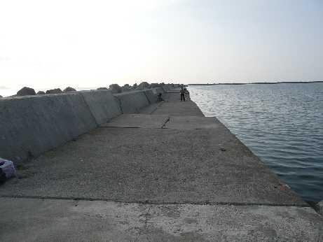 防波堤東側