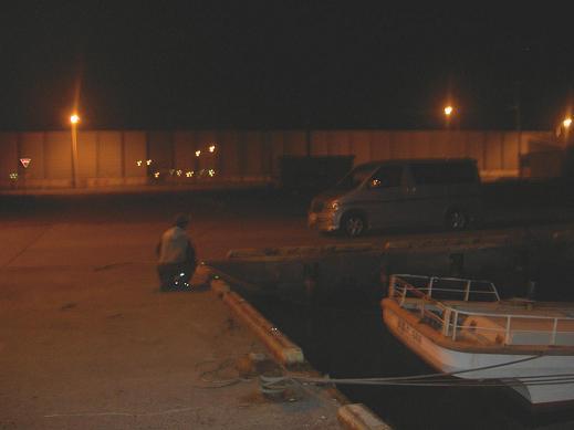 夜の石狩湾新港