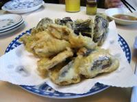 小いわしとナスの天ぷら