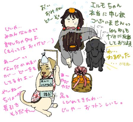 エルモちゃんとチーム柑橘