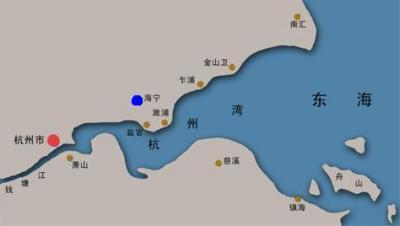銭塘江の地図