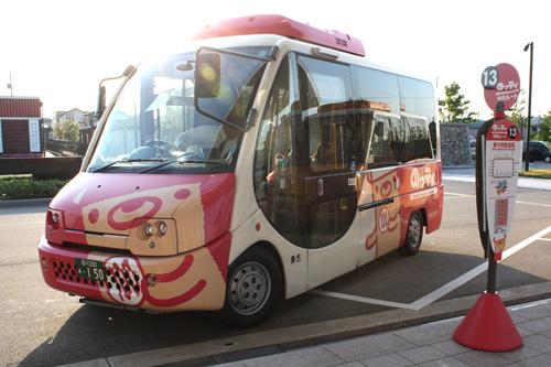 かわいい「のっティ」バス