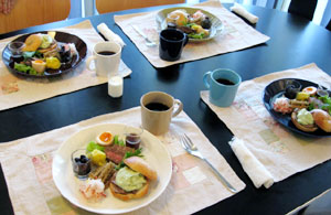 3日の朝食・洋風おせち・プレート♪