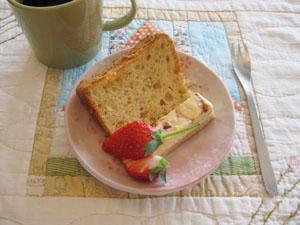苺シフォン・苺チーズケーキと、いちご♪