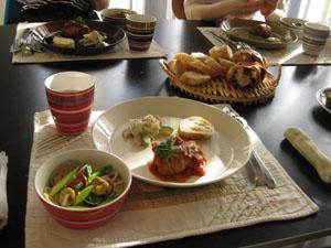 Kitouサンと、Yukaチャンと、鶏ハムメニューでお料理教室♪