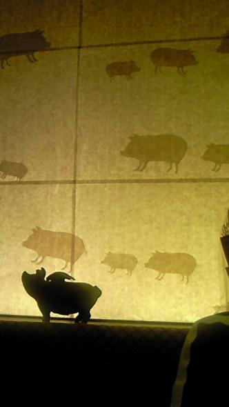 店中、豚だらけ。