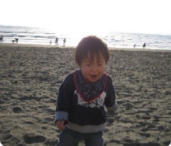 砂浜はおっきなお砂場さ~