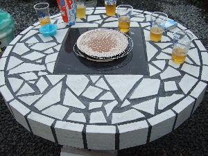 七輪テーブル