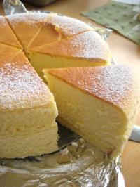 チーズスフレ縮小
