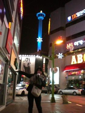 釜山タワーと国際市場