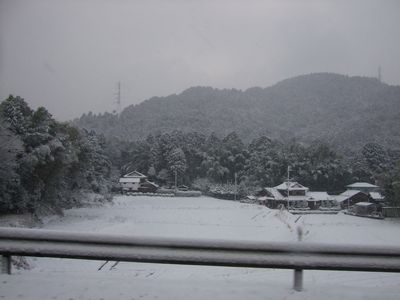 滋賀の雪景色