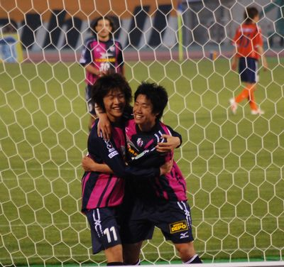 香川選手と柿谷選手