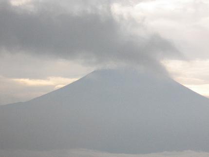 富士山の雨雲