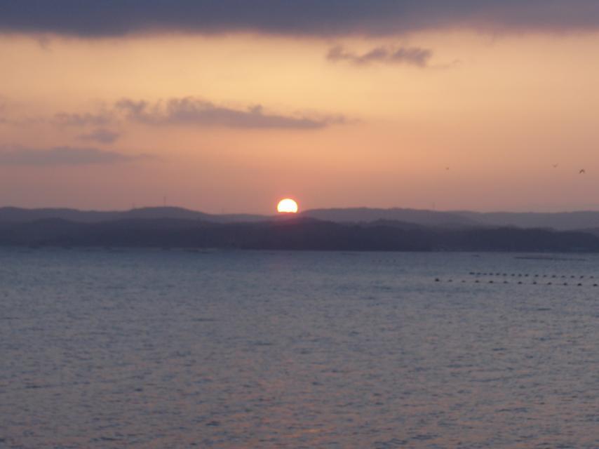 石川の夕日
