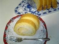 マロンクリームのロールケーキ