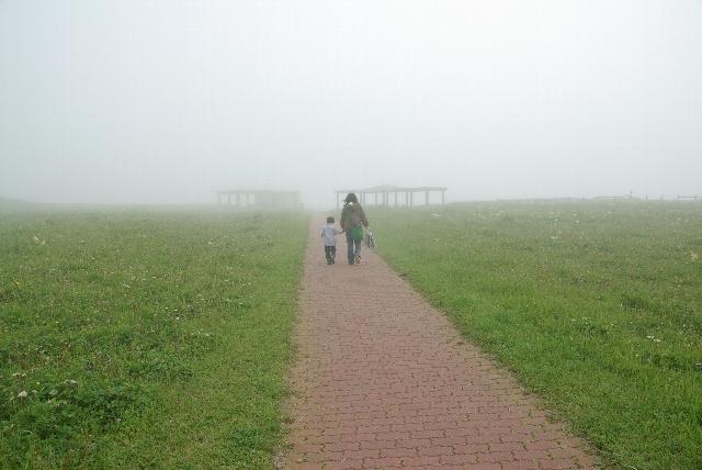 霧多布岬で