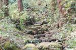 階段状になっているので楽な方です。ここから険しい岩の登山道が始まります。