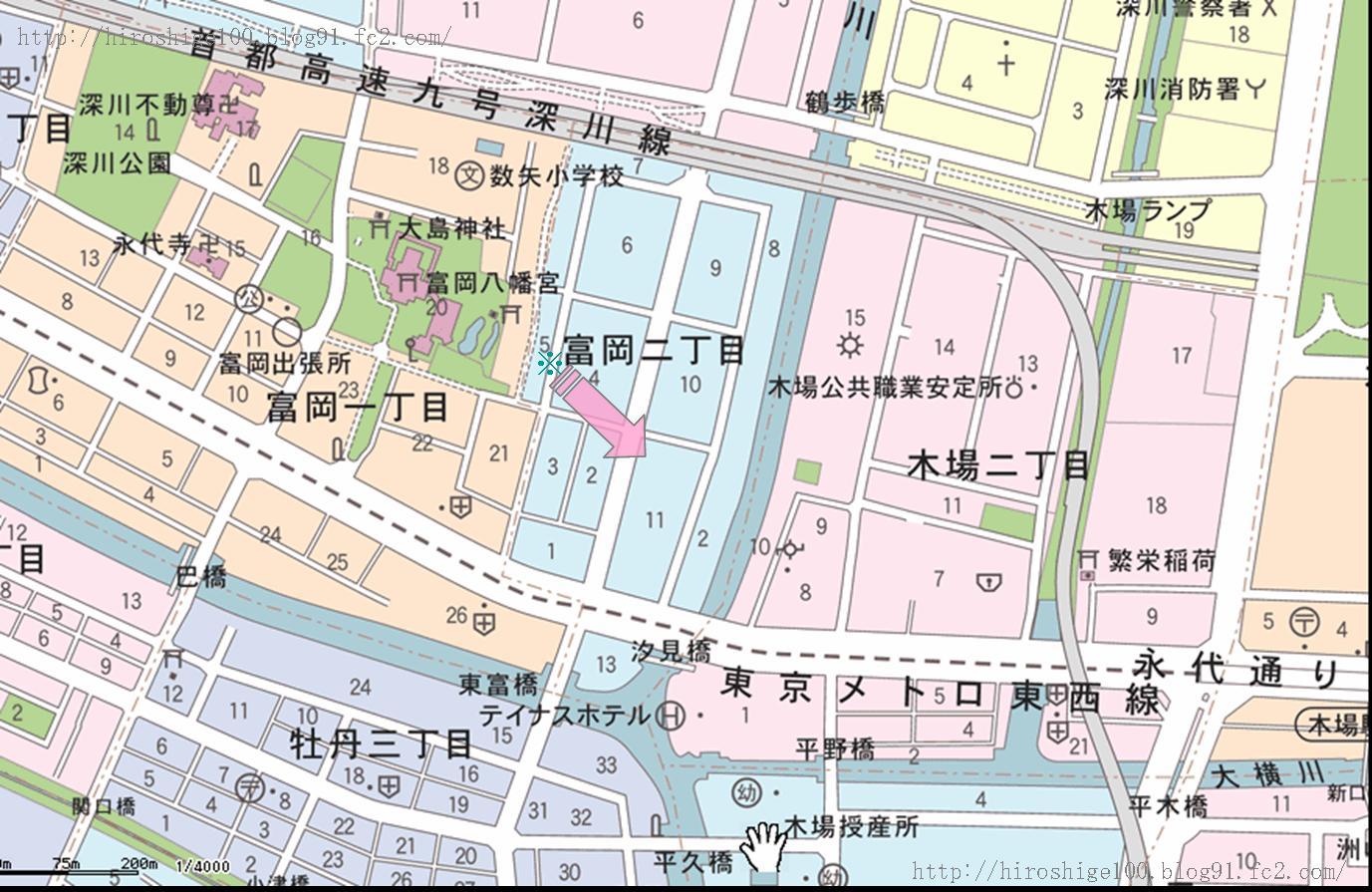 第69景 深川三十三間堂 - 広重 H...