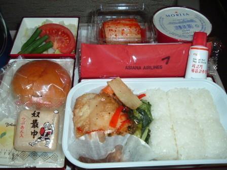 アシアナ航空羽田―金浦便の機内食
