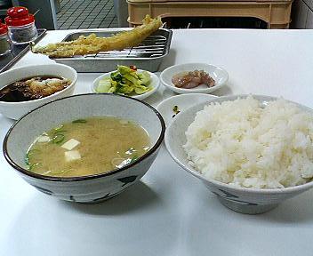 天ぷらのひらおのあなご定食