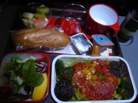 カンタス航空 成田→シドニー(夕食)1