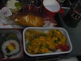 カンタス航空 成田→シドニー(夕食)2