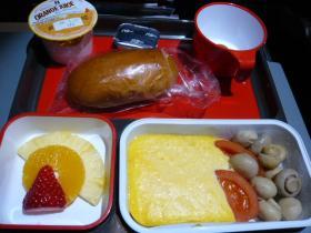 カンタス航空 成田→シドニー(朝食)1