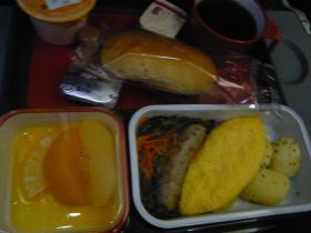 カンタス航空 成田→シドニー(朝食)2