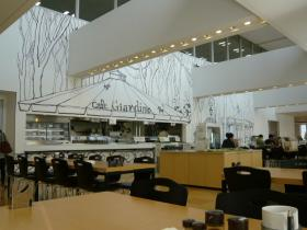 千代田区役所10階の食堂1