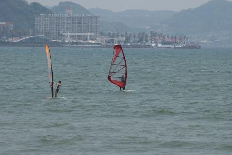 ウインドサーフィン@由比ヶ浜