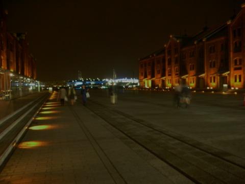 赤レンガ夜景