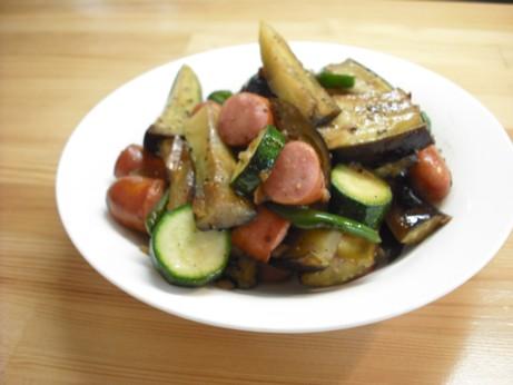 夏野菜いっぱい炒め