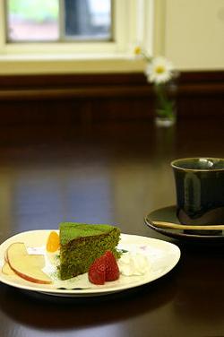 抹茶ケーキです