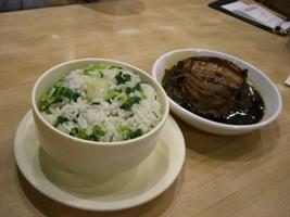 菜飯と梅菜扣肉