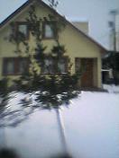 可愛いお家と雪