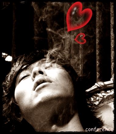 ハートの煙
