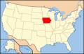 アイオワ地図