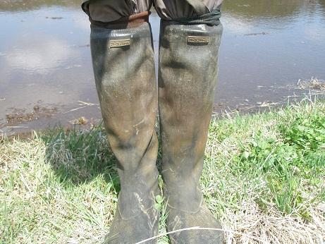 002田植え靴黒