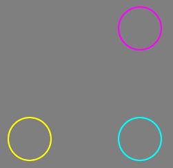 直径62ピクセル・幅4ピクセルの円