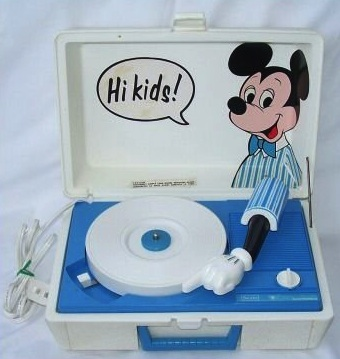 Vintage Sears Mickey Mouse Disney Record Player-NR!