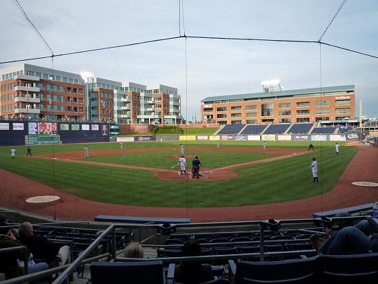Durham Ballという球場で野球観戦